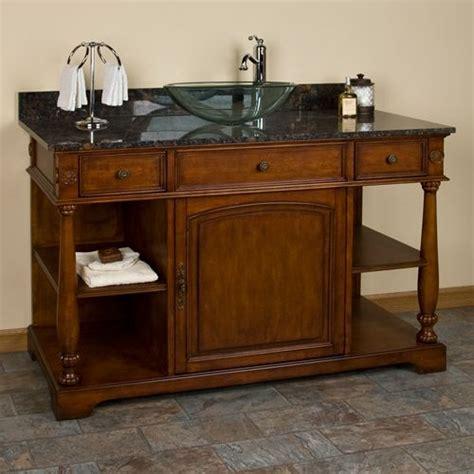 Antique Bathroom Vanity With Sink by Antique Vanity For Vessel Sink Design