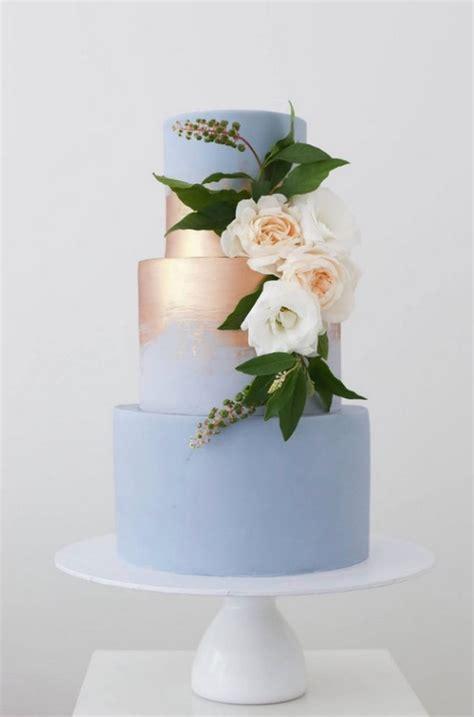 wedding cake trends  metallic wedding cakes roses