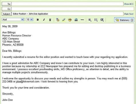 Follow Up Email Letter After Sending Resume by 301 Moved Permanently