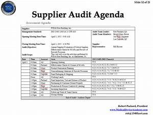 Remote auditing and supplier auditing webinar medical for Supplier audit plan template