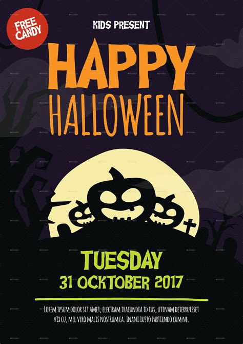 free printable halloween flyer flyer by anjarkecik graphicriver