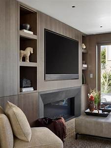 Modern, Living, Room, With, Wood, Paneling