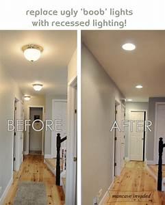 Recessed lighting mancave invaded