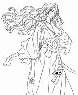 Rangiku Matsumoto Coloring Draw Deviantart Larger Credit sketch template