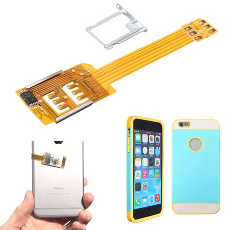 sim card for iphone 6 dual sim card adapter converter cover for iphone 6