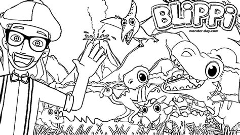printable blippi coloring pages  kids  day