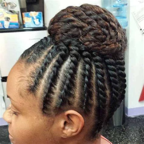 Black Updo Twist Hairstyles by Flat Twist Updo Hairstyle For Black