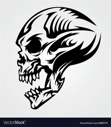 skull tattoo design royalty  vector image vectorstock