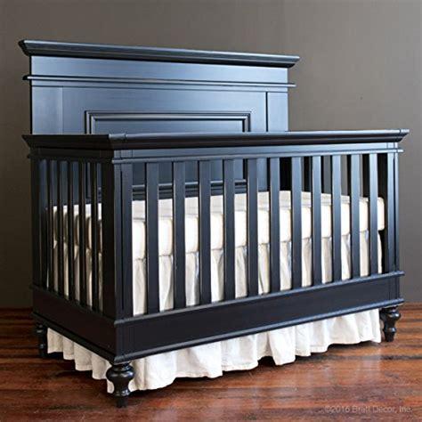 Bratt Decor Crib Black by Evolur Curve Top Collection Pewter 808 Ptw