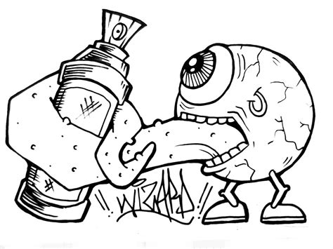 Grafiti Sketsa : Kumpulan Gambar Dp Bbm Keren Karakter Monster Sketch