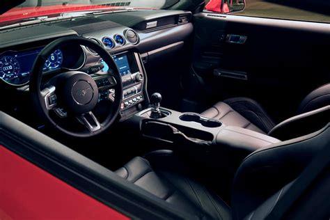 ford mustang coupe interior  carbuzz