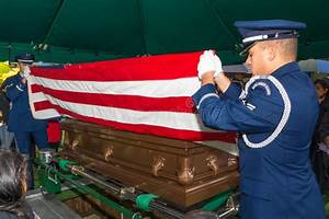 Air Force Funeral Flag Folding Editorial Photo - Image ...