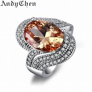 amber stone 925 silver filled trendy wedding rings for With amber stone wedding ring