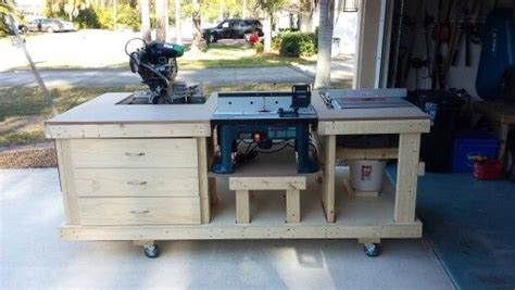 workbench including table  miter  router
