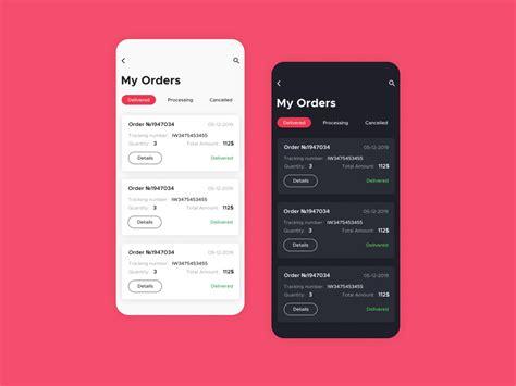 orders ui mobile design  levi rodrigues  dribbble