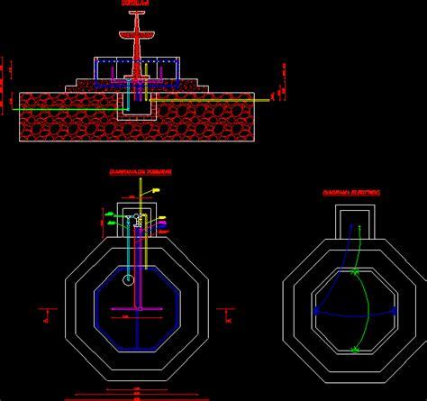 pileta ornamental en autocad descargar cad  mb