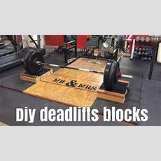 Diy Deadlift Blocks With 2x4s Youtube