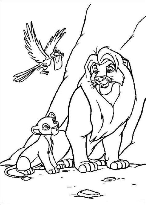 Coloré Gratuit by Free Printable Simba Coloring Pages For