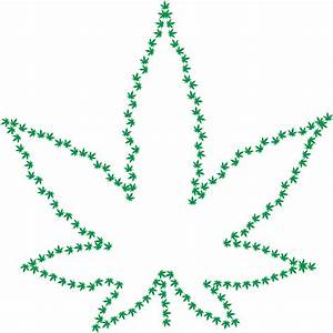 Clipart - Marijuana Fractal Outline