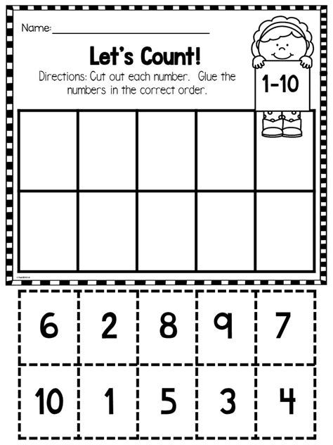 kindergarten math ordering numbers and counting