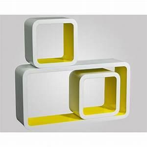 Cube Etagere Bois : etageres cubes topiwall ~ Teatrodelosmanantiales.com Idées de Décoration