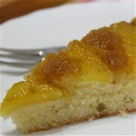 peach upside  cake  recipe allrecipescom