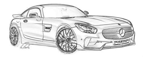 Auto Kleurplaat Getund by Vorschau Piecha Design Mercedes Amg Gts Rsr Bodykit