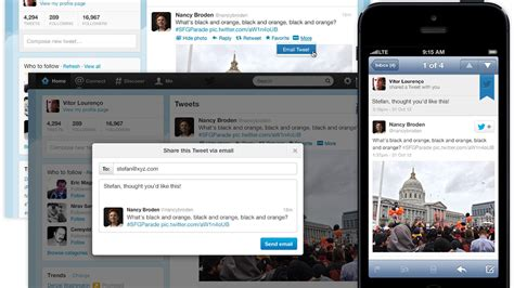 Twitter adds the ability to share tweets via email ...