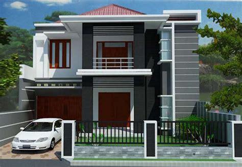 desain gambar rumah minimalis dua lantai abwabacom