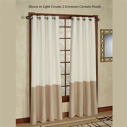 Grommet Curtain Block Panel Rod Aqua Canvas