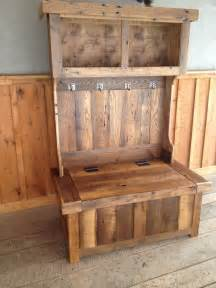 Make A Bench Out Of Pallets by Reclaimed Chestnut Hall Tree