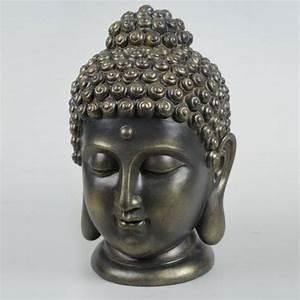 Objet Deco Zen : t te de bouddha marron objets d co design ambiance zen izaneo bouddha tete ~ Teatrodelosmanantiales.com Idées de Décoration