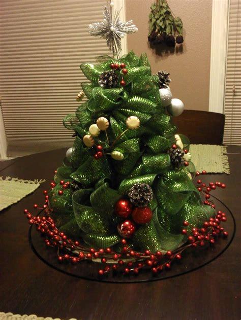 mesh christmas tree made with a styrofoam cone 2 1 2