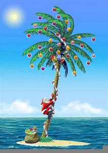 tropical florida christmas clipart  images  clker