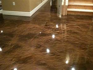 stain concrete floors indoors pictures stained concrete With tiling on concrete floor basement