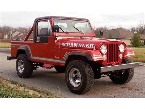 cj8 jeep 1985 jeep cj8 scrambler for sale classiccars com cc 926395