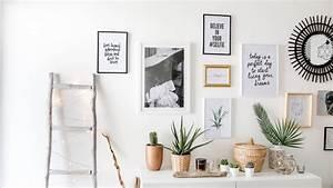 Créer Un Cadre Photo : tuto d co r alisez un mur de cadres sans percer june sixty five blog mode ~ Melissatoandfro.com Idées de Décoration