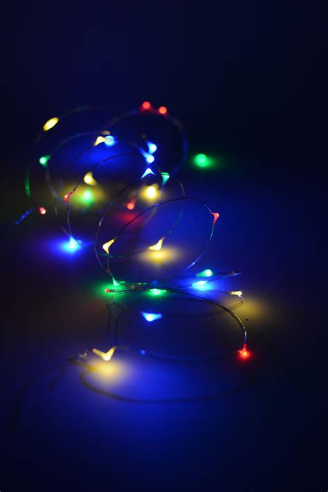 multi color led lights everlasting glow micro led light string battery op 10