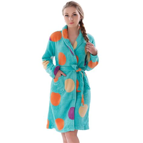 kimono robe de chambre coral fleece winter autumn warm bathrobe