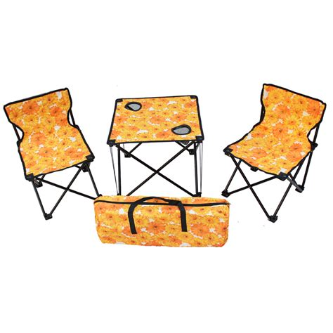 portable table and chairs travelling outdoor folding tables and chairs set portable