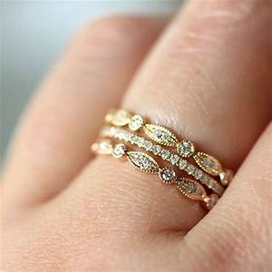 Trend stacked wedding rings say yes events for Stacked wedding rings