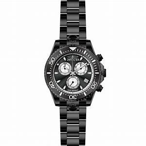 Invicta Pro Diver 47 Mm Black Steel Men U0026 39 S Watch