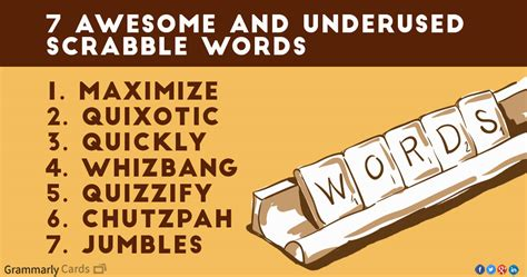 7 Awesome And Underused Scrabble Words