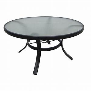 shop garden treasures lake notterly 36 in glass top steel With 36 round glass coffee table