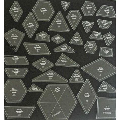 hexagon  piece template set  ozquilts