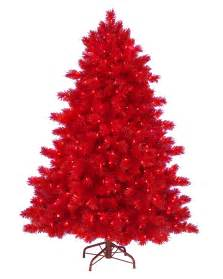 Flocked Pencil Christmas Tree by 6 Ft Ashley Red Artificial Christmas Tree Christmas Tree