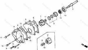 Honda Atv 1988 Oem Parts Diagram For Water Pump