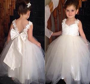 bow knot cute flower girls dresses for weddings 2016 ball With girl dresses for weddings