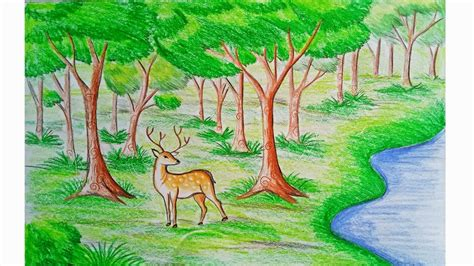 easy forest drawing  getdrawingscom   personal