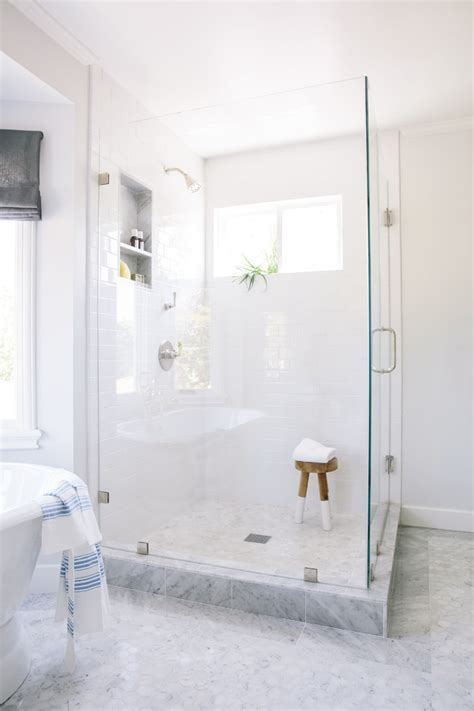 carrara marble bathroom Bathroom Traditional with Carrara